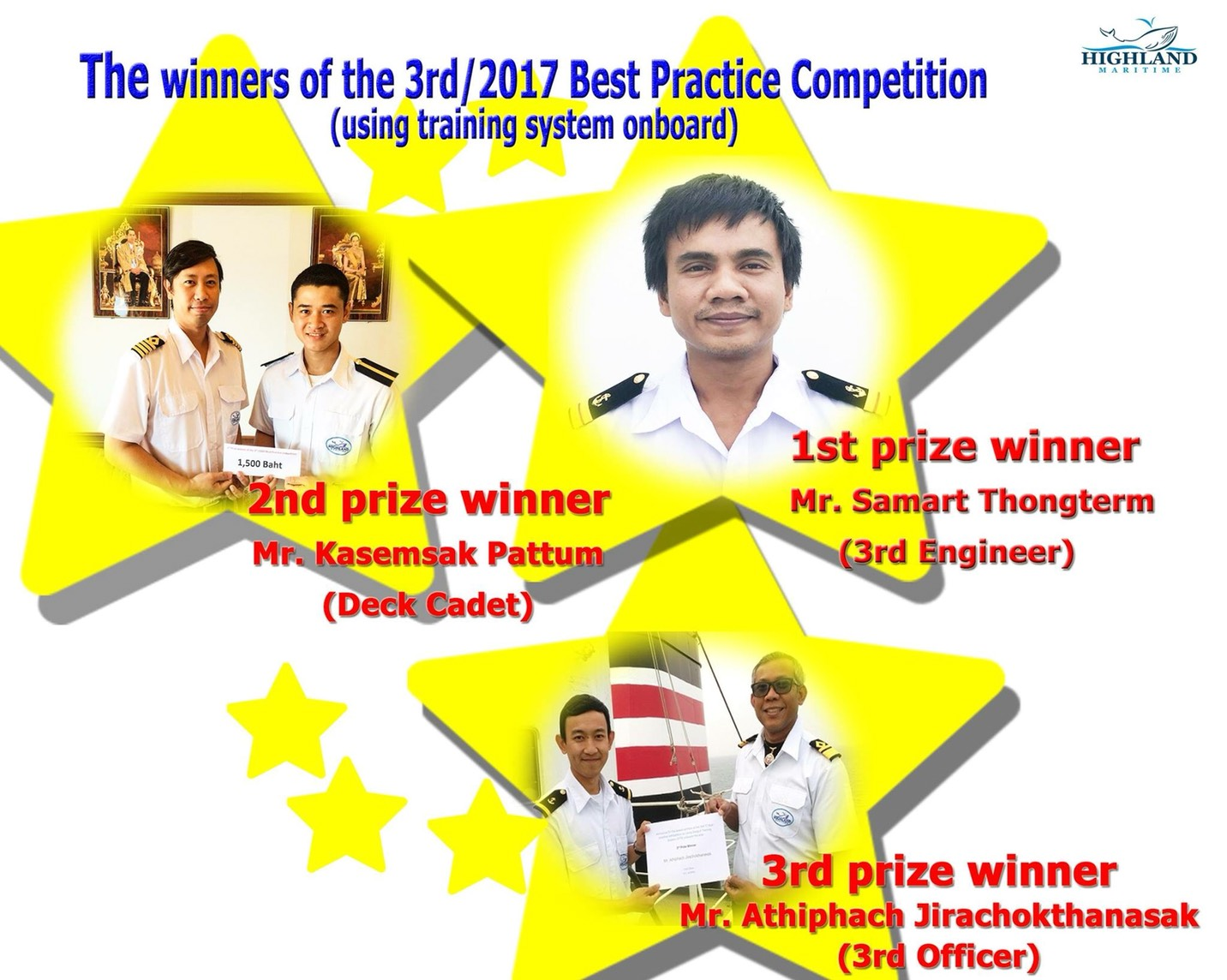รางวัล The winners of the 3rd/2017 Best Practice Competition